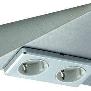 Pistorasia Limente Delta-2 16 A 230 V IP20 185x173 mm 2-osainen RST