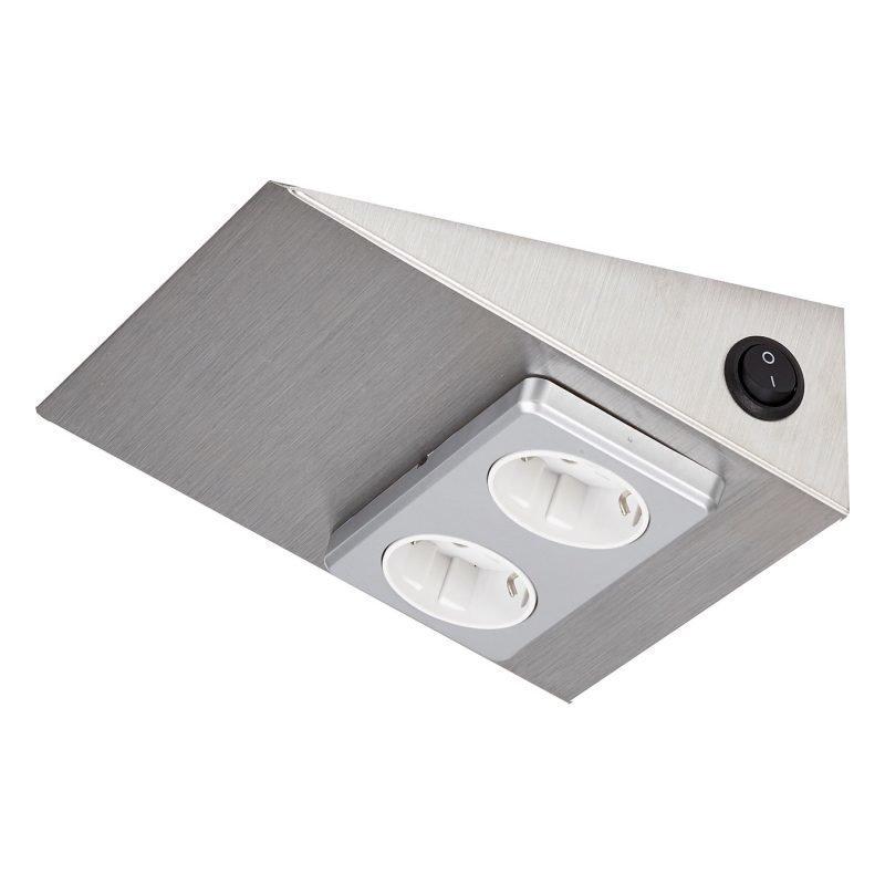 Pistorasia Limente Luna-2 200 W 16 A 230 V 150x164 mm 2-osainen RST kytkimellä