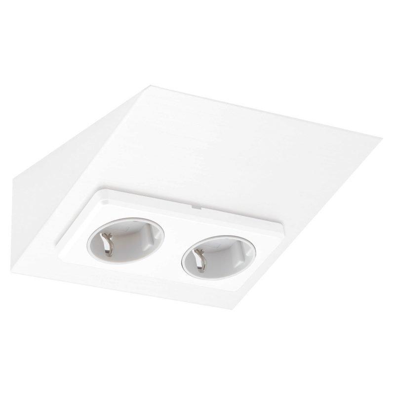 Pistorasia Limente Mini-2 16 A 230 V IP20 150x164 mm 2-osainen valkoinen