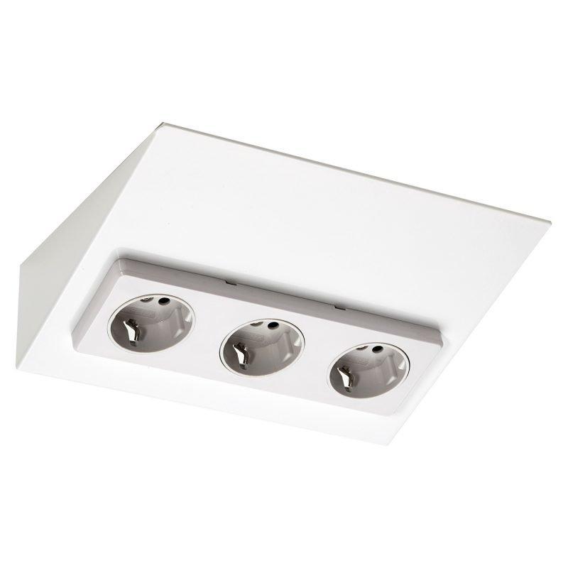 Pistorasia Limente Mini-3 16 A 230 V IP20 213x164 mm 3-osainen valkoinen