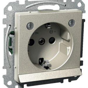 Pistorasia alavalolla 1-osainen UPJ LED metalli Exxact