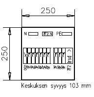Ryhmäkeskus IP30 Pointer 1P 3409