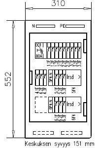 Ryhmäkeskus IP44 Basset 3818