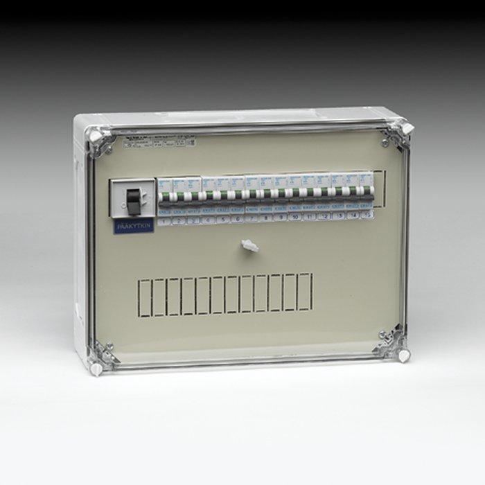 Ryhmäkeskus muovi IP54 EVS 163.15P johdonsuojakatkaisija