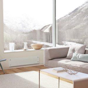Sähköpatteri Nobö Top Glass 750W 24x102 cm valkoinen