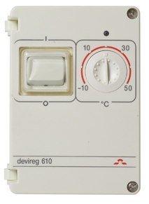 Sulanapitotermostaatti Devireg 610 -10 - +50°C