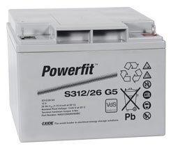 Suljettu AGM-akku Exide Powerfit S312/26 F5