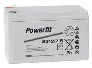 Suljettu AGM-akku Exide Powerfit S312/7 S