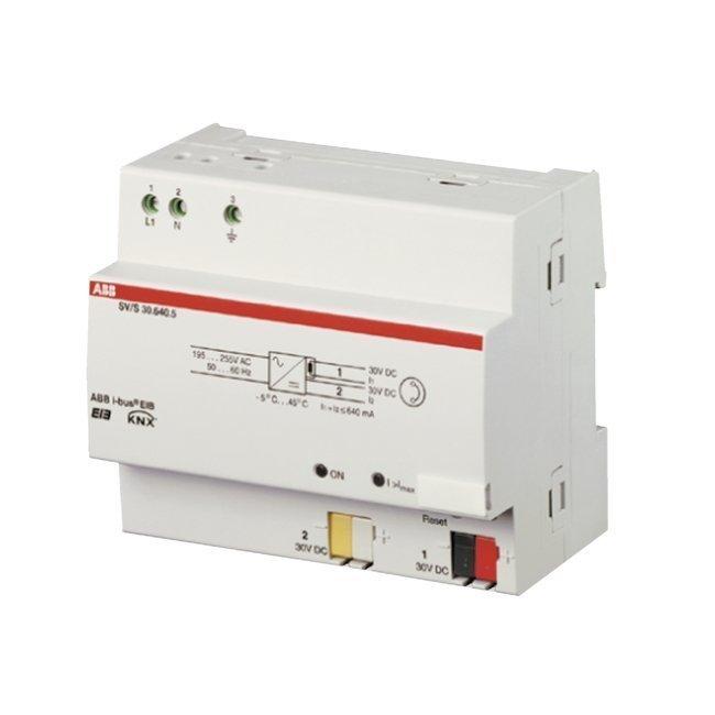 Teholähde Virtalähde 640 mA kuristimella 6 moduulia KNX SV/S30.640.5