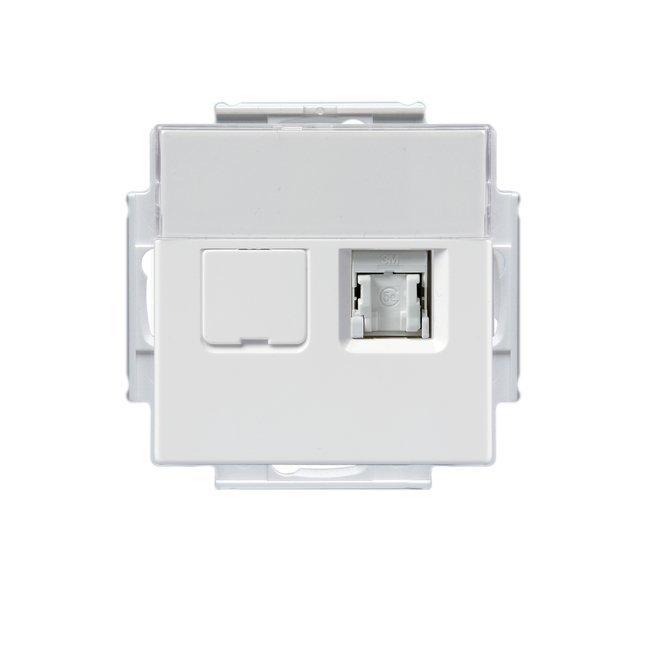 Telerasia Impressivo 2xRJ-45 Cat6 suojaamaton valkoinen