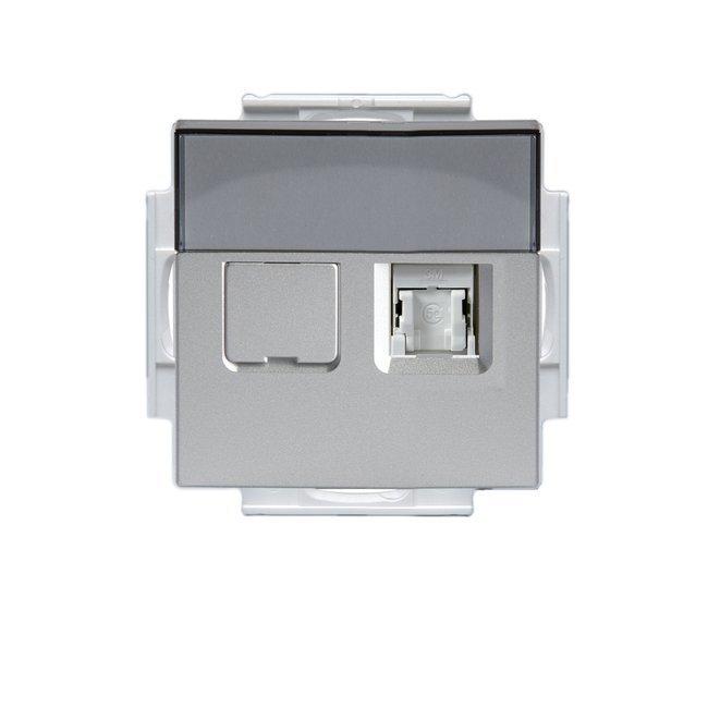 Telerasia Impressivo 2xRJ-45 ei sisällä liittimiä Cat6 suojaamaton alumiini