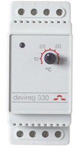 Termostaatti Devireg 330 +5..+45C 16 A