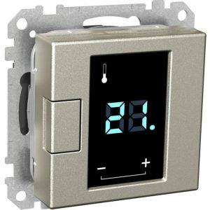 Termostaatti kosketusnäytöllä 5/50 16A 230VAC IP20 USE metalli Exxact