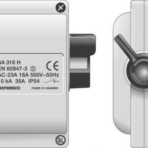 Turvakytkin IP54 Norwesco SA316