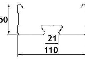 Valaisinripustuskisko MEK 110 6m
