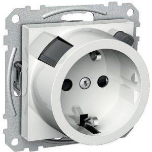 Vikavirtapistorasia 1S/VVS/16A/IP20 UKJ valkoinen Exxact